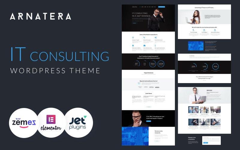 Arnatera - IT Consulting Responsive WordPress Theme