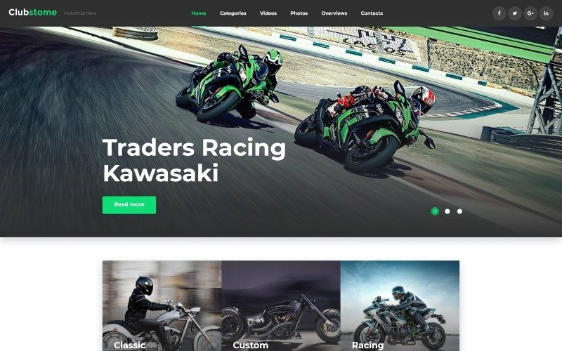 Clubstome - Sport Racing WordPress Theme
