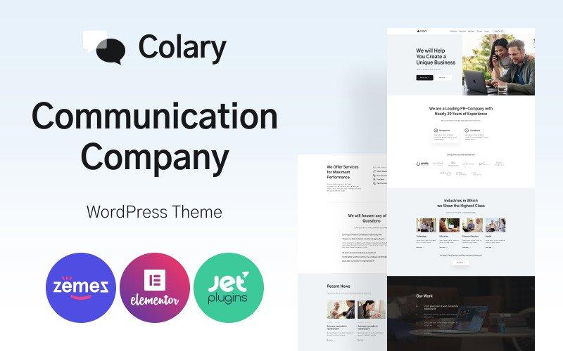 Colary - Communication Company WordPress Theme