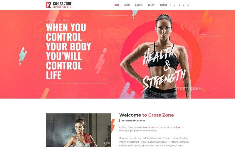 Cross Zone - Crossfit Studio WordPress Elementor Theme