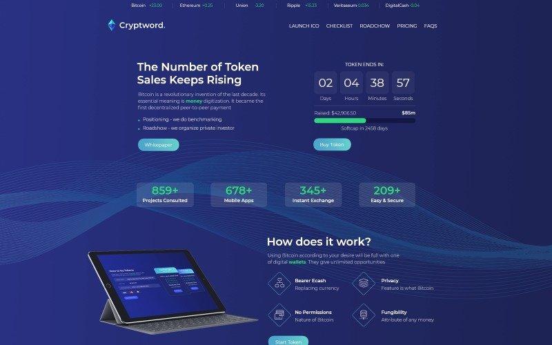 Cryptword - Cryptocurrency WordPress Elementor Theme