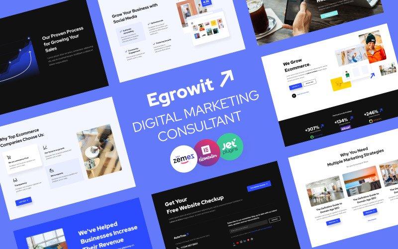 Egrowit - Digital Marketing Consultant WordPress Elementor Theme