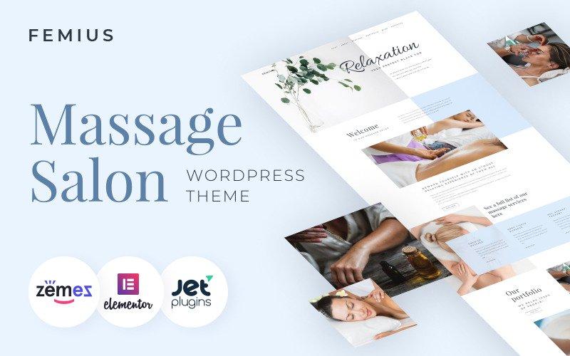 Femius - Massage Salon Ready-to-Use Minimal WordPress Elementor Theme