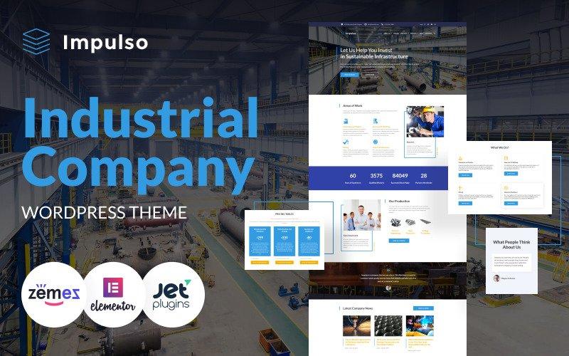 Impulso - Industrial Company WordPress Elementor Theme