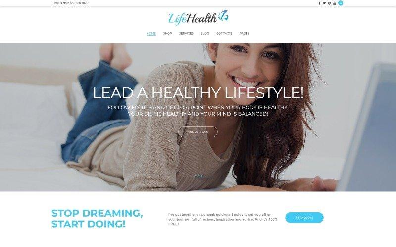 LifeHealth - Healthy Lifestyle Coach Responsive WordPress Theme
