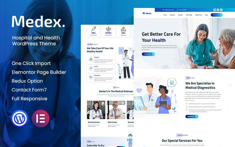 Medex - Hospital and Health WordPress Theme