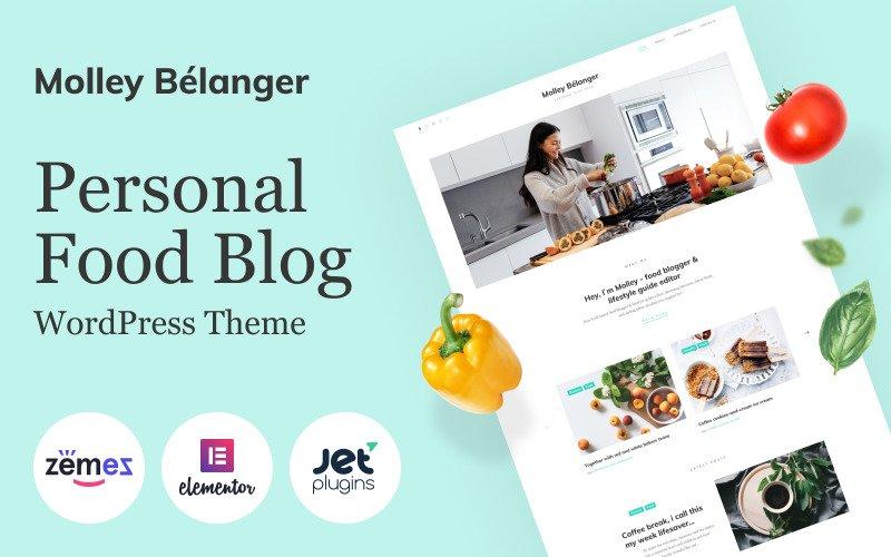 Molley Belanger - Food blog  for storytelling WordPress Theme