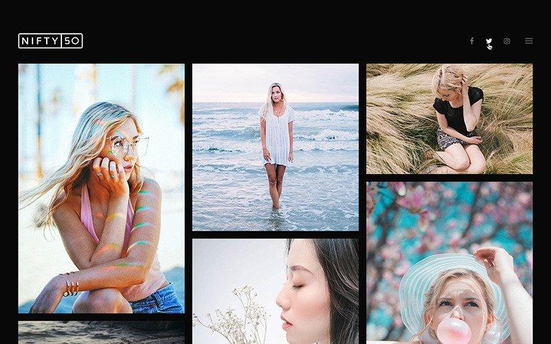 Nifty Fifty - Photography WordPress Theme