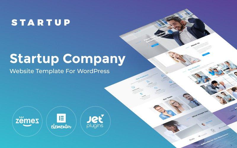 Startup Company One Page WordPress Theme