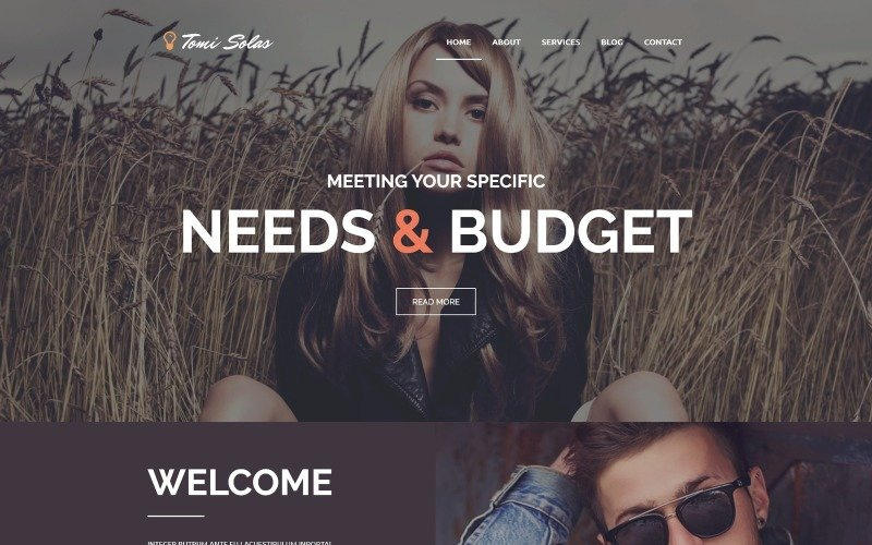 Tomi Solas WordPress Theme